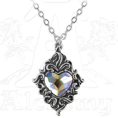 Alchemy Gothic Crystal Heart Pewter Pendant BRAND NEW