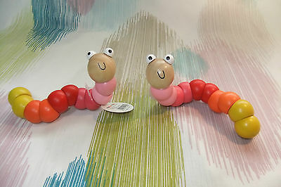 Kaper Kidz Pink Girl Infant Wooden Jointed Worm! Twist and play!