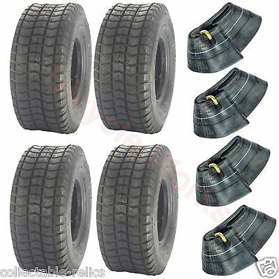 4X Tyres Tubes 9x3.5-4 Black Wheelchair Trolley Electric Scooter Skateboard 947