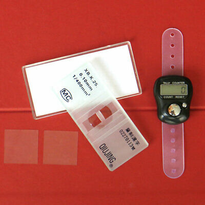 Hemocytometer with Free Cell Counting Recorder and 2 Free cover slides