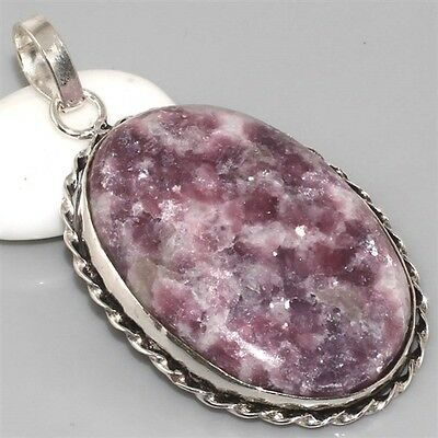 LARGE Charoite & 925 Silver Pendant 58mm Gemstone Jewellery