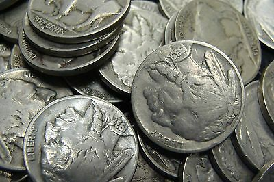 Roll of Full Date Indian Head Buffalo Nickels (40 Coins Total)