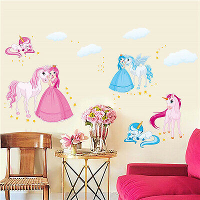 Princess Removable Vinyl Girl Bedroom Home Decor Art Mural Wall Stickers Decal