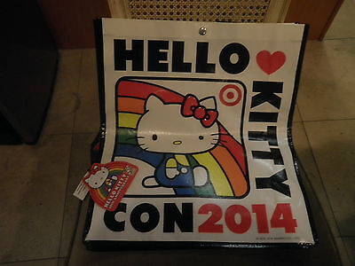 Hello Kitty Con 2014 Exclusive Target Bag With Straps  Loungefly Red Heats +pin