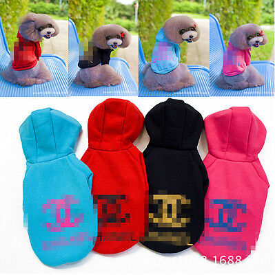 """13"""" Pink H-002 Dog Clothes Apparel Costume Winter Puppy Coat Wear Hoodie Fashion"""