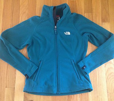 Womens The North Face Fleece Coat Jacket Size XS XSmall Turquoise Blue TKA200