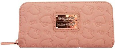 Loungefly Sanrio Hello Kitty Vegan Dusty Pink Embossed Zip Around Long Wallet