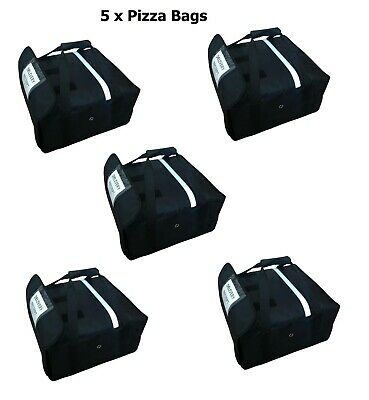 "5 x Pizza Delivery Bag (Size 20""X20""X7"") Full Insulated All Sides Keep It Warm"