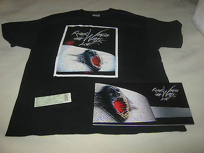 ROGER WATERS 2010 THE WALL TOUR CONCERT SHIRT 2XL & PROGRAM AND TICKET**MINT**