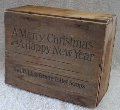 VTG Antique Swifts High Grade Toilet Soap Wood Wooden Box General Store Display