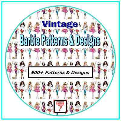 Make Your Own Barbie Clothes - Over 900 Vintage Patterns on CD
