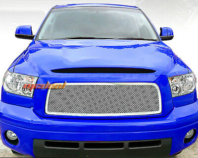 Fit 07-09 Toyota Tundra Upper 1PC Stainless Steel Chrome Mesh Grille Grill