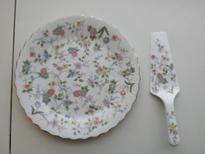 New Andrea by Sadek Fine Porcelain China Cake Plate and Server CORONA Design