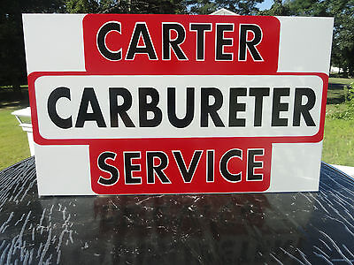 CARTER CARBURETER VINTAGE SIGN, GAS AND OIL AC DELCO CHEVY CAMARO HOLLEY CARB