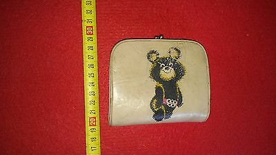 pouch,purse,wallet,russian,soviet Olympic Bear Mishka,made in USSR,Olympic 1980