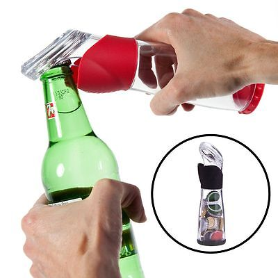 Trudeau Bottle Opener Cap Catcher Bar Tool Stores 30 Camping Party Holder Beer