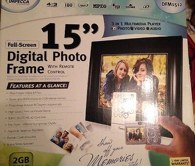 "Impecca DFM-1512 15"" Digital Picture Frame"