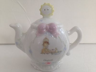In Box- 1993 Precious Moments August Monthly Teapot 351784
