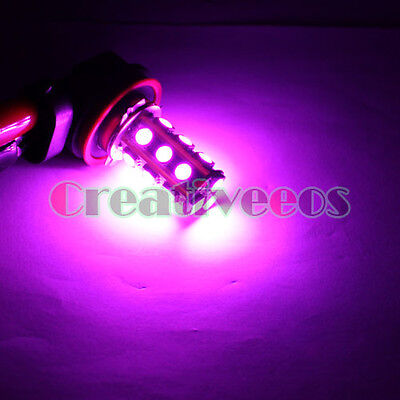 2x H8 H11 5050 SMD 12V Car Foglight DRL Driving LED Fog Light Bulbs Pink Purple