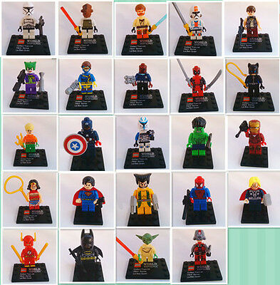 24Sets Different Marvel Super Heroes Series Minifigures Building Toys In Bags123