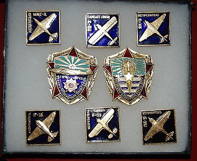 Russian, Soviet, USSR Tunic Badge Set of 8 Medals