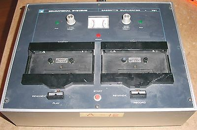 Vintage Voice Of Music Model 791 Audio Cassette Duplicator For Parts Or Repair