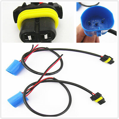 2 Pcs 9004 9007 Wire Harness For HID Ballast Stock Socket For HID Conversion Kit
