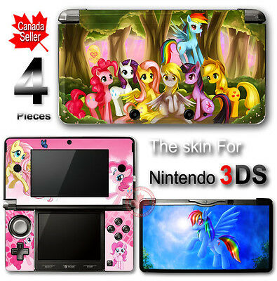 My Little Pony and Friends Cute SKIN STICKER VINYL COVER for Nintendo 3DS