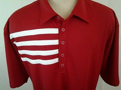 Black Clover Live Lucky Men's Red with white shoulder stripes polo size 3X