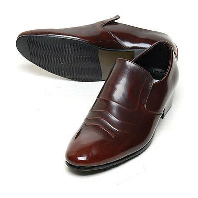 Mooda Limited Edition MEN'S Luxury Leather Loafers Dress Shoes Brown US 8.5