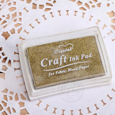 1Pcs Fashion Accessories Craft Oil Based Ink Pad For Fabric Wood Paper Color 01