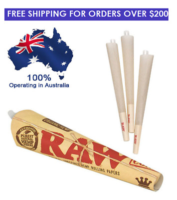10 packs of 3 x Raw Natural Hemp King Size Pre Rolled Cones - Rolling Papers