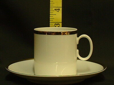 Thomas China Wide Gold 799 Band Coffee Cup & Saucer New