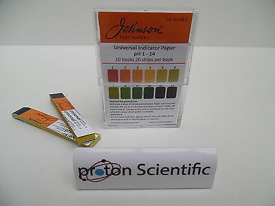 Johnson Universal Indicator Paper 10 Books Test paper Ph 1 - 14
