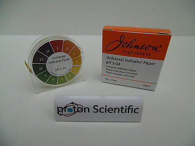Universal pH Indicator Paper Johnson Brand Reel 5 Mtr x 7mm Test paper Ph 1 - 14