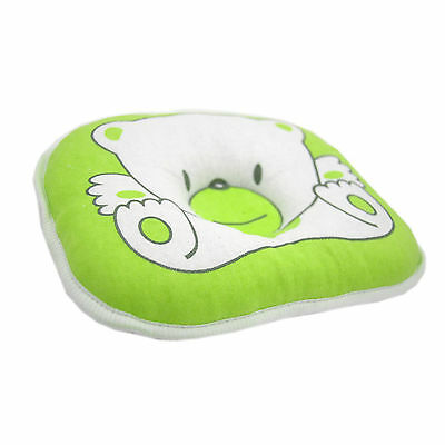 Bear Pattern Pillow Newborn Support Cushion Pad Prevent Flat Head - green color