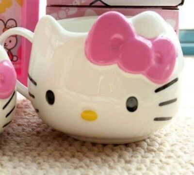 PINK BOW KITTY Face Multiple Use 500ML Coffee Mug Good for Home / Office Use