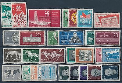 LB68895 Germany DDR   nice lot of good stamps MNH