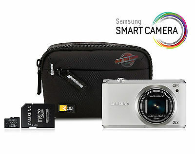 Samsung WB350f Smart Digital Camera Bundle - 16MP, 21 x Zoom, Wi-Fi, NFC - White