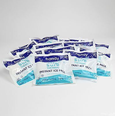 15 x Handy Disposable Instant Ice / Cold Packs Size 14.5cm x 14.5cm - CE Marked