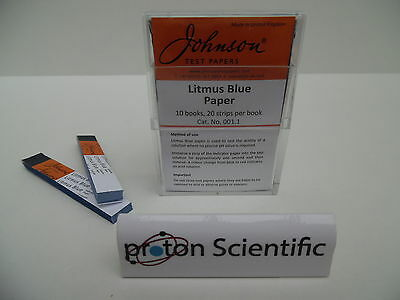 Johnson Litmus Blue Indicator Test Paper 10 Books 200 Strips