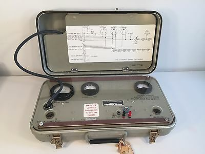 Vintage RARE Traveling Wave Tube Test Set in Military Metal Case 1969 Rockwell