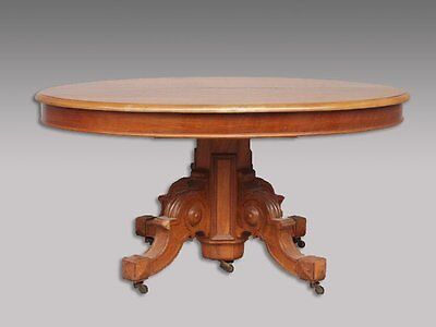 grande table ovale Restauration noyer blond