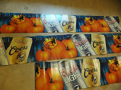 Corrugated Rolled Cardboard Coors Light Beer Sign-Table Skirting / Case Cover