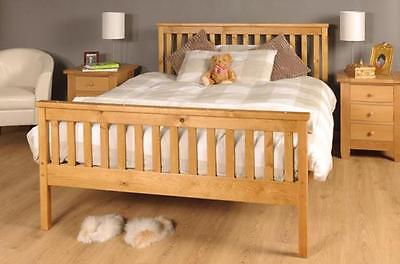 King Size Bed Pine 5ft KingSize Bed Wooden Frame Pine