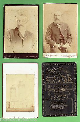 #D151.  Four Early Cabinet Card Photographic Images