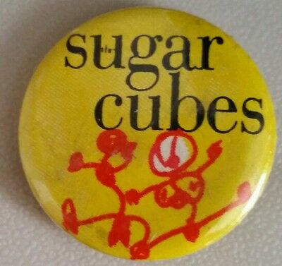The Sugar Cubes , Life's Too Good  pin back collectable,  Bjork original