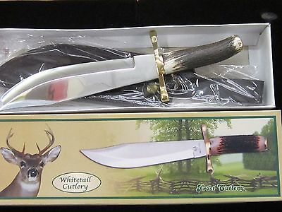 FROST WHITETAIL CUTLERY DEER STAG BOWIE KNIFE WT-005
