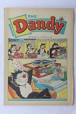 The Dandy 1474 February 21st 1970 Vintage UK Comic Korky The Cat Desperate Dan