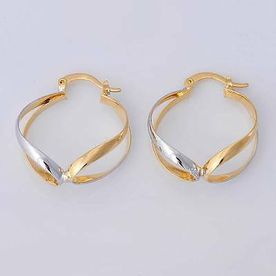 Gorgeous 14K Solid Yellow Gold Filled Jewelry  Women's Hoop Earrings E037